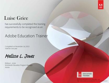 Adobe Education Trainer Certificate