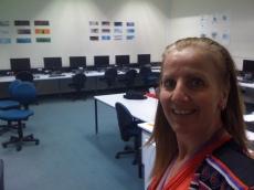 TAFE Technology Classroom - Student's work on walls