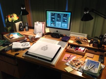 Old studio set up