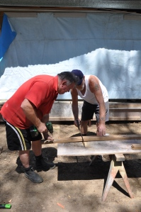 Prep for concrete pour