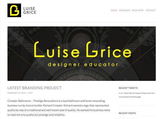 Current Personal Web Site - Content, Design and Photos by Luise Grice