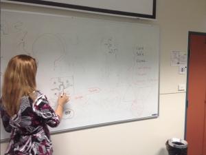 Luise Grice brainstorming