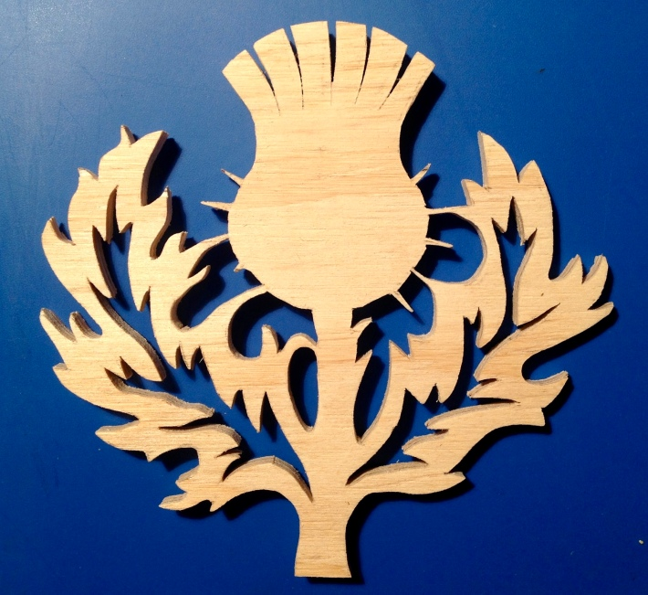 Wood cut thistle