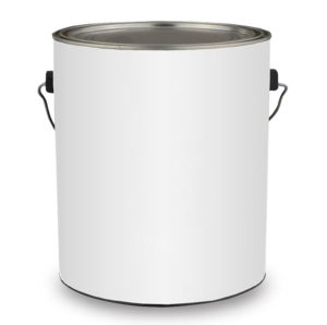 white paint tin