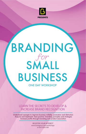 branding workshop flier